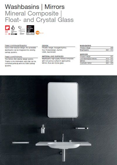 Click here to view the HEWI Washbasins Catalogue
