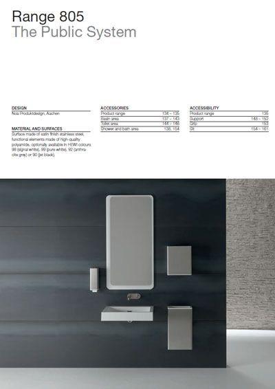 Click here to view the HEWI Range 805 Catalogue